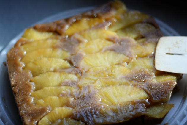 Jamaican Upside Down Pineapple Cake